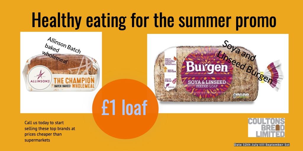 Allinson and Burgen Bread summer promo
